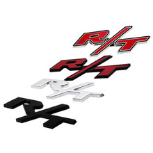 3D Metal RT Logo Auto Fender Side Tail Sticker Decal Car Accessories For Dodge Charger Dakota Caliber Ram Nitro Viper Challenger(China)