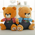 27cm wholesale 2017 new Style bear plush toys lovers bear cloth doll stuffed plush pillow cushion baby kids doll