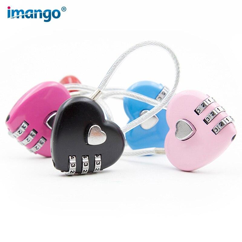 Heart shaped Girls Combination Locks Luggage Padlocks Backpacks ...