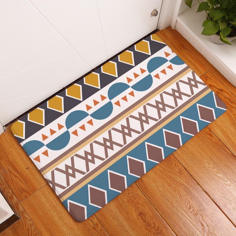 Nieuwe aankomst vloermatten patroon gedrukt badkamer keuken tapijten - Thuis textiel