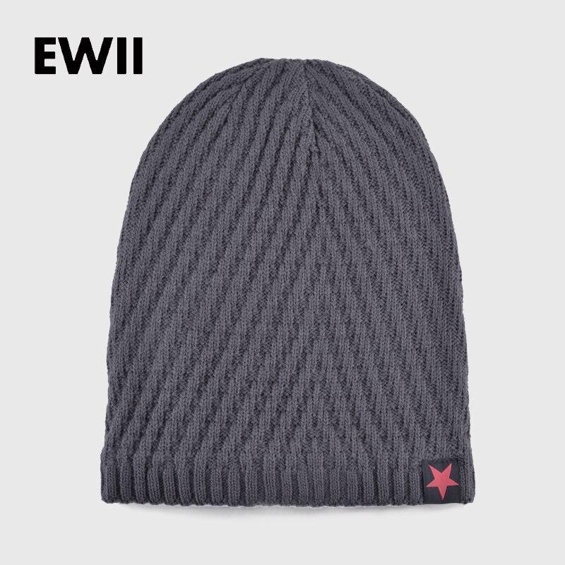 2017 Winter beanie hats for men knitted bonnet wool cap gorro skullies men  beanies star hat boy warm caps bone casquette in Pakistan 9f2f3c35a11