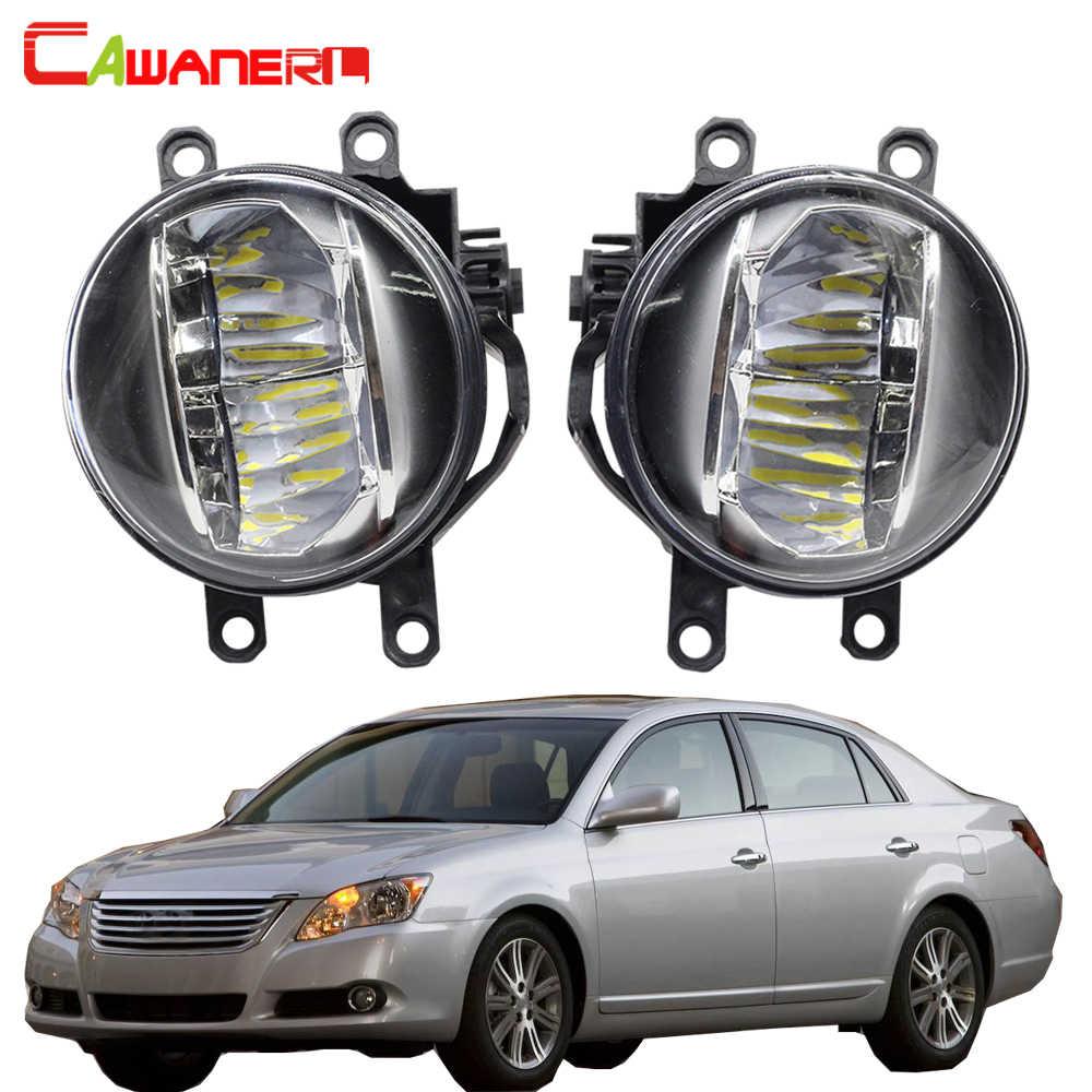 Cawanerl Car Accessories 4000LM Fog Light LED Daytime Running Light DRL White H11 12V For Toyota Avalon 2008 2009 2010