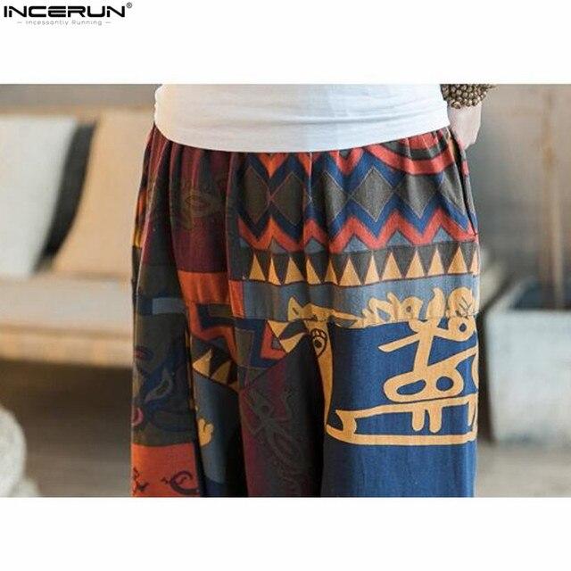 New Hip Hop Aladdin Hmong Baggy Cotton Linen Harem Pants Men Women Plus Size Wide Leg Trousers New Boho Casual Pants Cross-pants 5