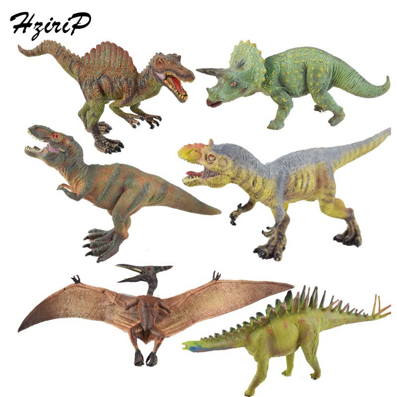 HziriP 6Pcs/lot Big Dinosaur Action & Toy Figures Animal Model Toys PVC Ornaments Original Box Free Shipping For Children Gifts original box sonic the hedgehog vivid nendoroid series pvc action figure collection pvc model children kids toys free shipping