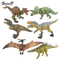 HziriP 6Pcs/lot Big Dinosaur Action & Toy Figures Animal Model Toys PVC Ornaments Original Box Free Shipping For Children Gifts