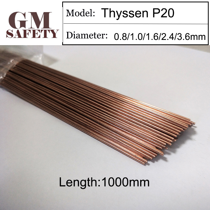1KG Pack Mould TIG Wires Thyssen P20 Plastic Welding Feed Repairmold Welding Wire for Welders 0