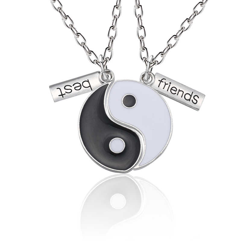 TIANYI Jewelry Mens Womens Stainless Steel Best Friends Couples Cross CZ Pendant Necklace