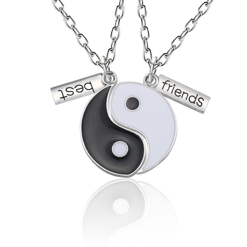 Best Friends Pendant Necklace Women Yin Yang Tai Chi Best Fr…