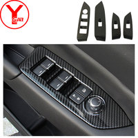 carbon fiber door armrest switch panel cover For mazda cx5 cx 5 2017 2018 Interior car styling parts auto accessories ABS YCSUNZ