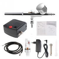 Volledige Precisie Airbrush Tattoo Tool Set Model Specifieke Luchtpomp Kit met Compressor Spray Air Brush Pistool Set