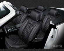Para bmw 3 5 7 series x1 x5 x6 m3 m6 negro rojo marca de coches de lujo de cuero suave cubierta de asiento delantero y trasero conjunto Completo de asiento de coche cubre