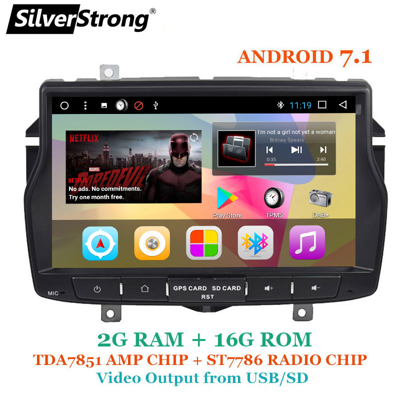 SilverStrong 8 pouces 1Din Android Radio DVD De Voiture Pour LADA Vesta langue Russe Navitel Android OS avec Sortie Vidéo Capacité