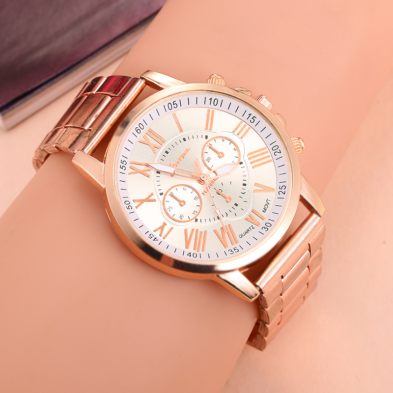 2019 Women Watches Fashion  Branded Men Watch Geneva  Ladies Quartz  Watch Stainless Steel Strap Folding Clasp 10 Colors