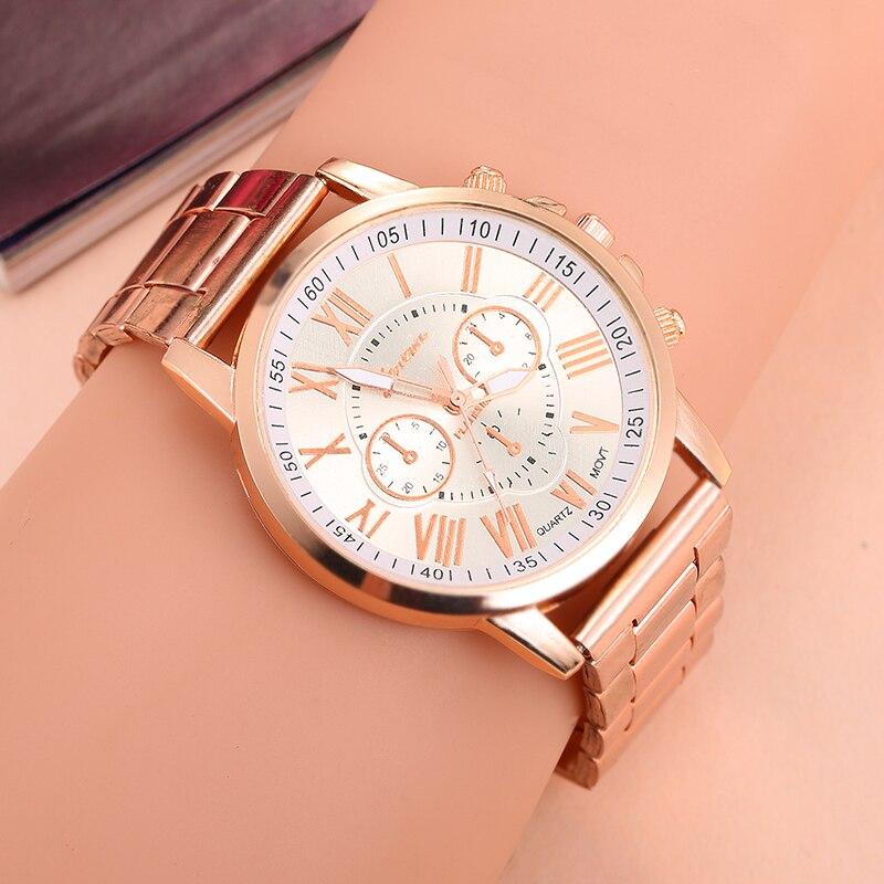 2019 Women Watches Fashion  Branded Men Watch Geneva  Ladies Quartz  Watch Stainless Steel Strap Folding Clasp 10 Colors