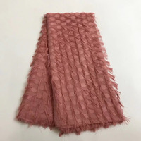 Wholesale Fashion Net Yarn 3D Tassels Embroidery Chiffon Lace Fabric,African/French Lace Trim Fabric For DIY Wedding Decoration