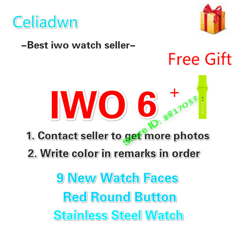 MTK2502c Smart Watch IWO 6 Heart Rate ECG 1:1 42mm Smartwatch IWO 5 Upgrade Bluetooth Music Watch & A free Strap For iOS Android celiadwn bluetooth smart watch iwo 4 smartwatch 42mm smaller iwo 1 version case for ios android phone vs iwo 3
