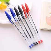 Adeeing 50pcs 1.0mm Medium Ballpoint Pens Ball Point Biros Red Blue Black Classical appearance perfect for school students r60(China)