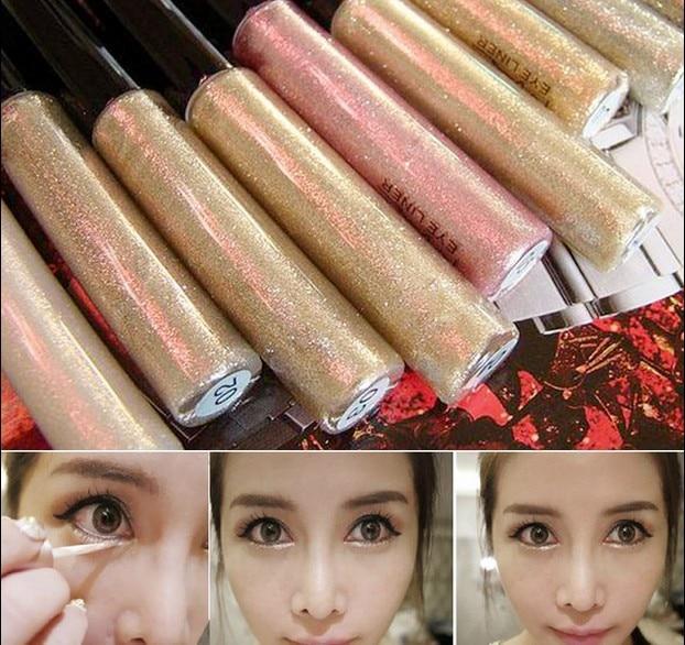 Profissional Cosméticos Bronzer Ouro Brilhando Sombra de Olho 7 Cores de Sombra Shimmer Glitter Brilhante Maquiagem maquiagem Navio Livre