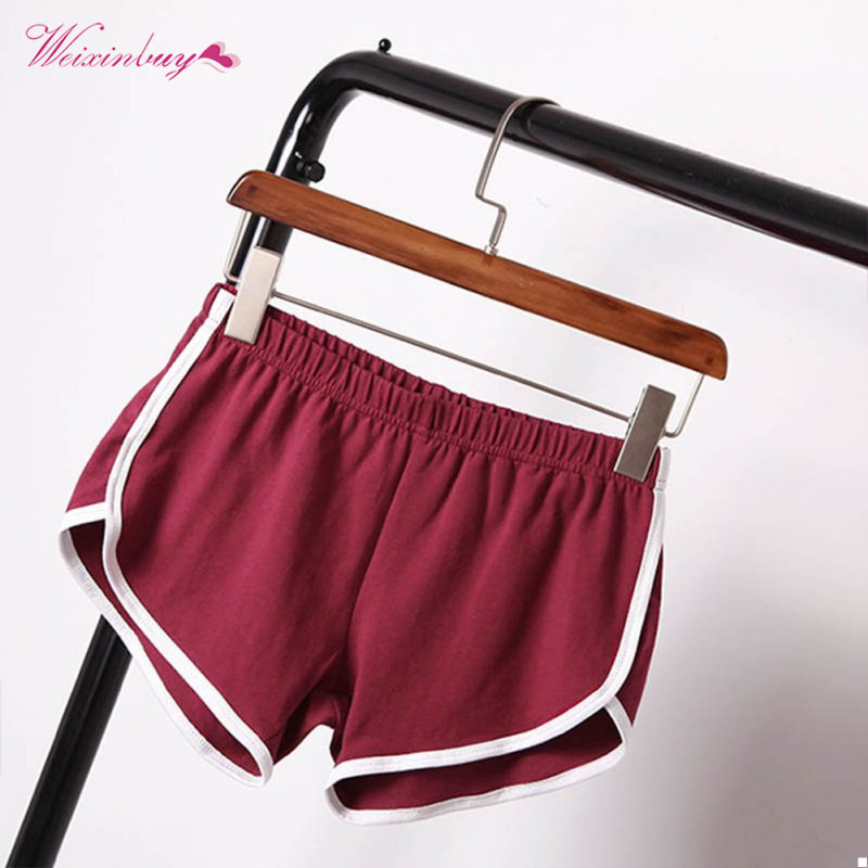 New Summer   Shorts   Women Casual   Shorts   Workout Waistband Skinny   Short   Cozy Multi Colors Breathable Elastic Waist   Short