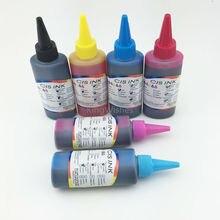 Envío gratis 6 Color 100 ML T0791-T0796 Dye Ink para Epson P50 PX700W PX800FW PX830FWD impresora de inyección de tinta