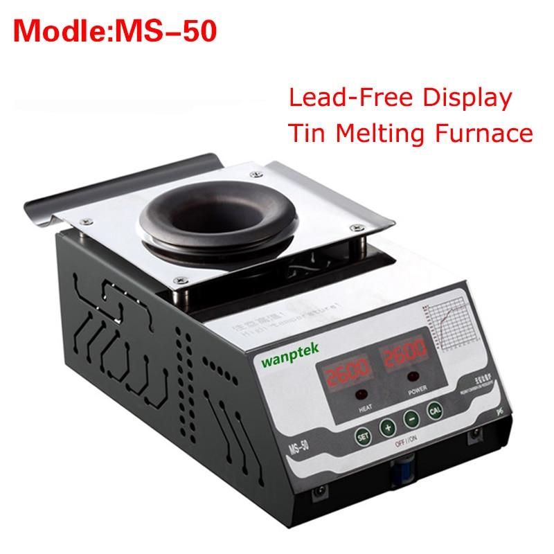 High quality MS-50 Display Lead-Free Tin Melting Furnace,Energy saving melting furnace Melting Tin Quantity 0.6KG molten tin furnace welding melting furnace machine welder zb1510b dissolve tin dip solder stove for pcb soldering pot