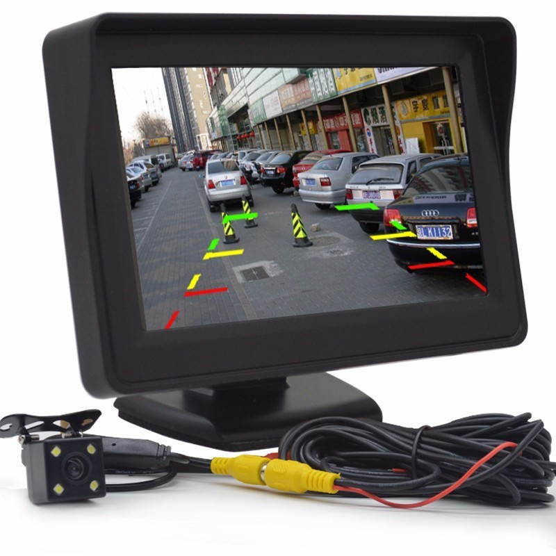 12V 24V Car Car Parking System Kit Rear View Camera Reverse Reversing Camera Waterproof  4.3