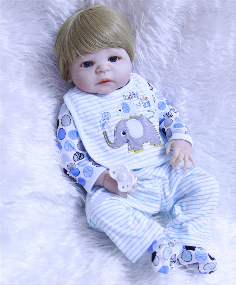 NPKCOLLECTION מזויף תינוק זכר בובות reborn מלא סיליקון reborn תינוקות ילדי מתנת חינוך צעצוע בובות bebes reborn menino