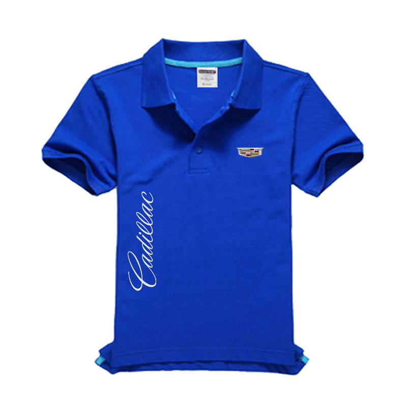 New Cadillac logo Men's   Polo   Shirt High Quality Men Cotton Short Sleeve shirt Brands jerseys