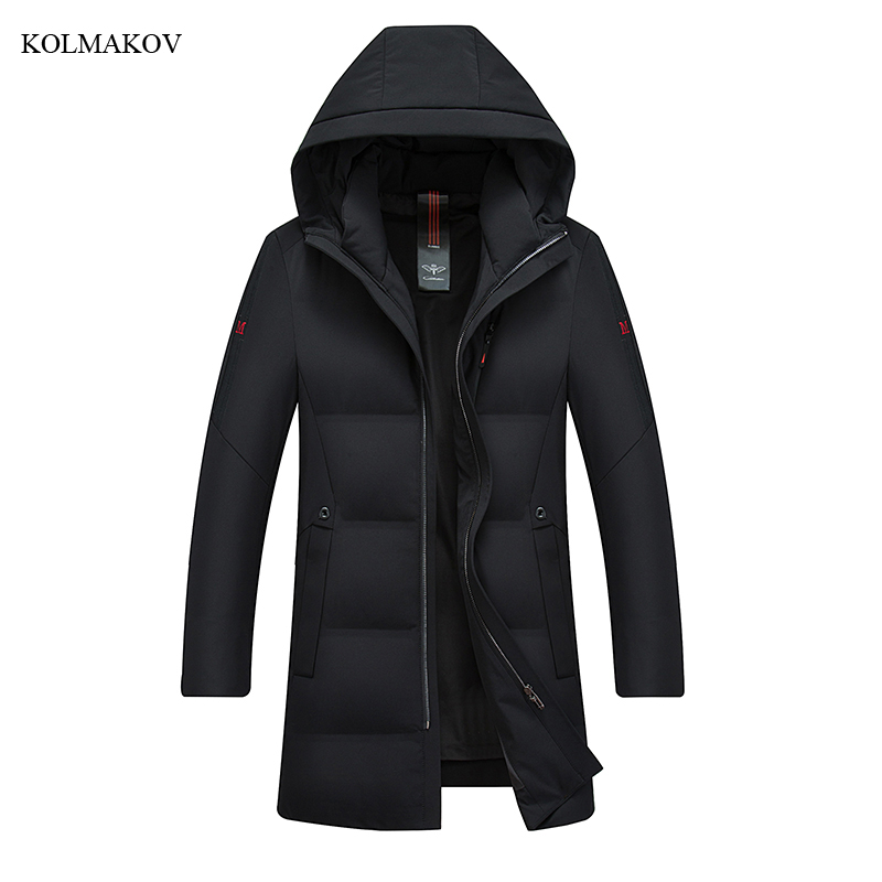 2018 New Arrival Winter Style Men Boutique Long   Down     Coats   Fashion Leisure Hooded Solid Warm   Down     Coat   Clothes Plus Size M-4XL