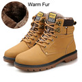 Men Boots 2017 Winter Men Boots Warm Fur Snow Winter Boots for Men Leisure Men's Timber Boots Male Booties