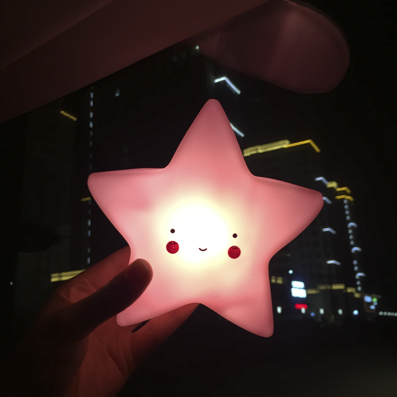 Lovely Creative Soft LED Light Star Sun Moon Cloud Shape Children Toy Bedroom Decorative Sleep Light Festival Gift ZQ-TJ001