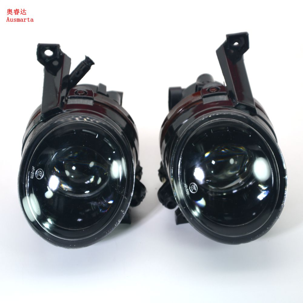 OEM Front Bumper Projection Convex lens Fog Lights Lamps 55W Bulb For Jetta 5 Golf MK5 GTI Rabbit Eos 1T0 941 699 1T0 941 700 new oem vw jetta golf mk5 gti rabbit front fog lights lamps 1t0941699 1t0941700 2005 2009