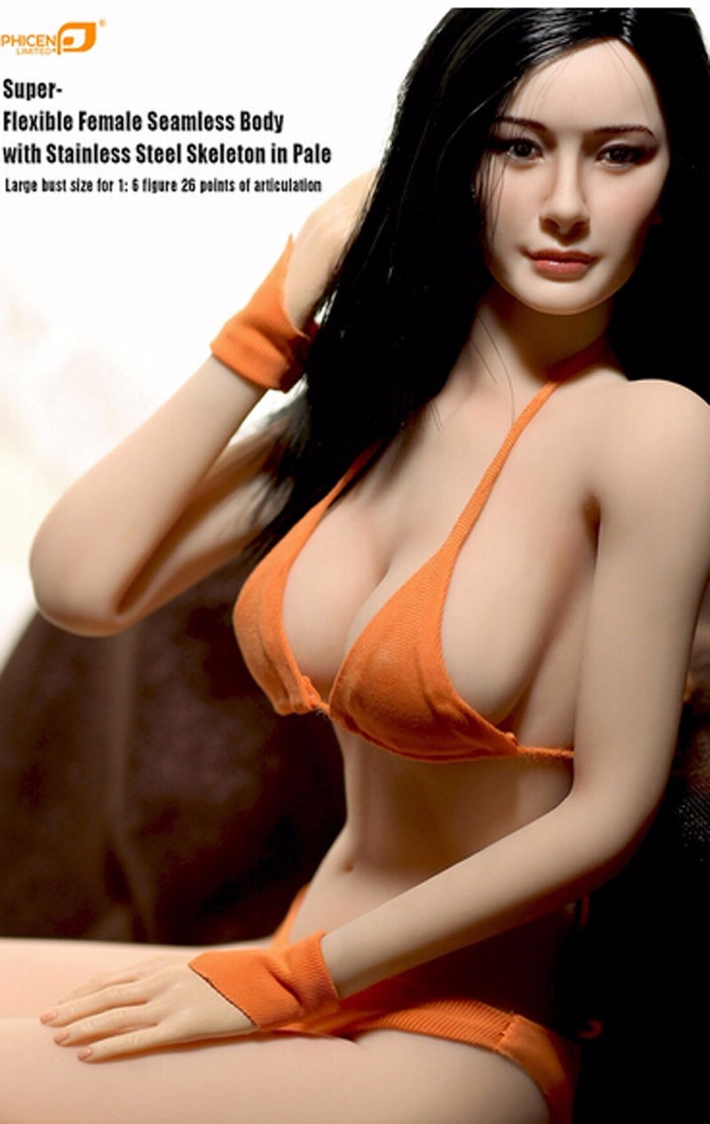 1:6th Female Seamless Body Large Bust Stainless Steel Action Figure Doll