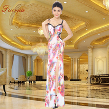 Fuerjia nightclub sexy diamond deep V tail dress  party long KTV nightclub PR Scarlett clothing dress wholesale