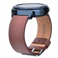 V MORO Genuine Leather Watch Strap For Fitbit Blaze Band Metal Frame Wrist Band Replacement Bracelet
