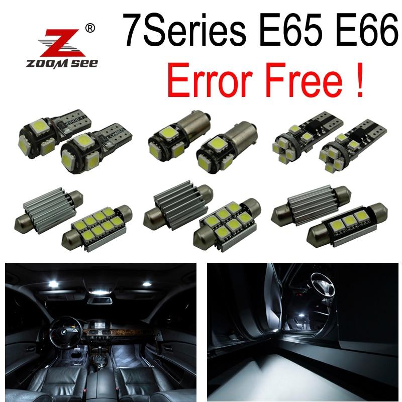 24пцс ЛЕД регистарска таблица + Унутрашња светла за куполу за БМВ 7 серије Е65 Е66 745и 745Ли 750и 750Ли 760и 760Ли (2002-2008)