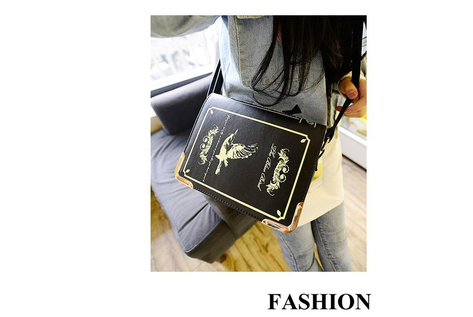 11d6a4c4d2 2017 Book shaped lolita bag ladies gothic bag women messenger bags shoulder  crossbody bags for women sac femme bolsa feminina