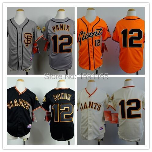 uk availability 28d7c 51e87 12 Joe Panik Jersey Youth Kids Cheap Authentic Sports Jersey San Francisco  Giants Baseball Jerseys Stitched logo Boys Girls-in Baseball Jerseys from  ...