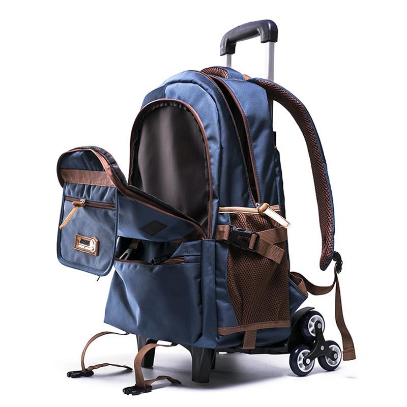 소년 소녀 배낭 방수 이동식 어린이 학교 가방 2/6 바퀴 계단 학년 4 9 어린이 트롤리 schoolbag 책 가방-에서학교가방부터 수화물 & 가방 의  그룹 1