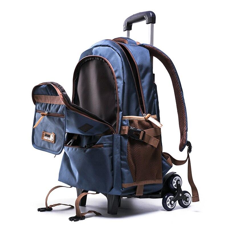 เด็กหญิงกระเป๋าเป้สะพายหลังกันน้ำเด็กโรงเรียนกระเป๋า 2/6 ล้อบันไดเกรด 4 9 เด็กรถเข็นกระเป๋านักเรียนกระเป๋า-ใน กระเป๋านักเรียน จาก สัมภาระและกระเป๋า บน   1