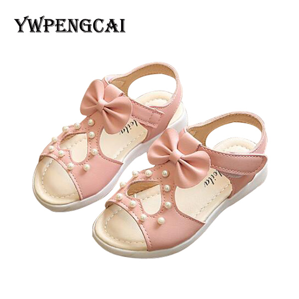 04f43251b9506 Heart Cut-outs Baby Girl Shoes Summer Children Beach Shoes Cute Bowtie Girls  Sandals Size 22-37