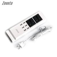 Zeoota 6 Port USB Socket EU US UK Dual AC Universal Adapter 5V 7 2A Quick