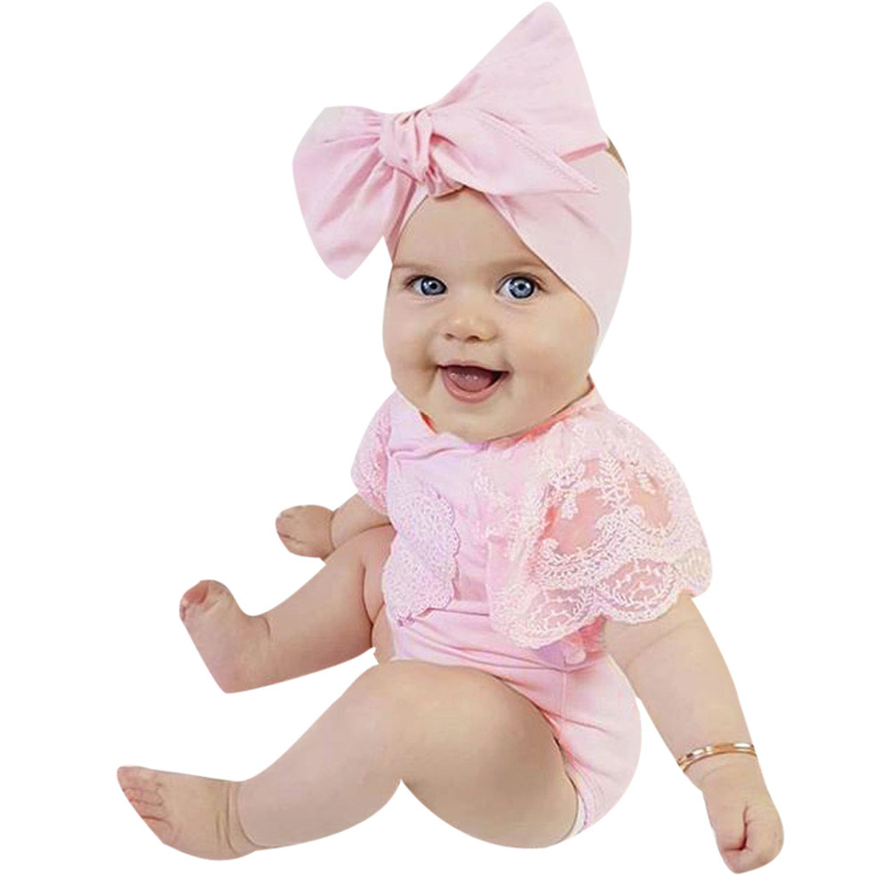 7ce7a530c Aliexpress.com : Buy Cute Baby Girls Infant Floral Heart Lace Sleeveless  Clothes Jumpsuit Romper Baby's sleeveless lace love printed from Reliable  jumpsuit ...
