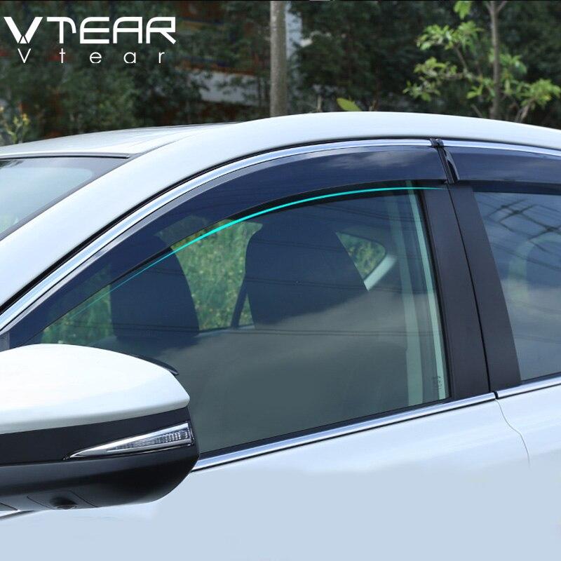 Vtear Pour Toyota RAV4 2016-2019 fenêtre visière Fenêtres côté Sun Protection Contre La Pluie Bouclier Extérieur corps décoration accessoires