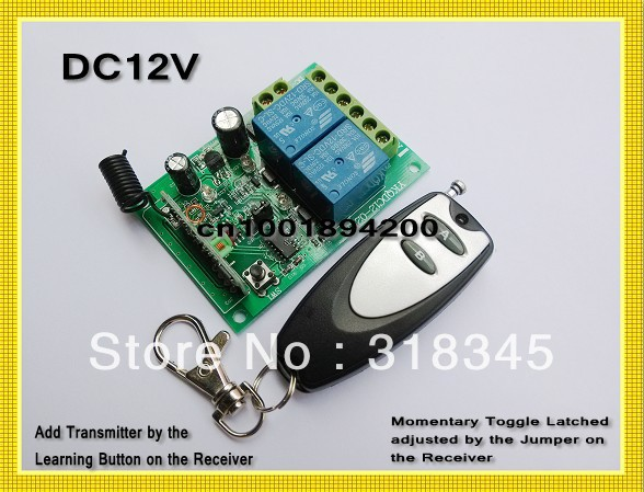 DC12V 2CH Wireless Remote Control Switch Security System Latched/Toggle/Momentary Learning Code Mini Transmitter 315MHZ new rf wireless switch wireless remote control system 2transmitter 12receiver 1ch toggle momentary latched learning code 315 433