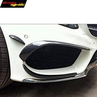 CLA W117 front bumper canards with spoiler splitters 6pcs carbon fiber W117 CLA180 CLA 200 CLA250 with Sport Edition 2014 2016