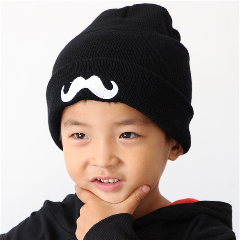 2018 Knit Baby Hat Girls Boys Toddler Kids Hedging Caps Beard pattern  Autumn Winter child cap Baby Beanies Accessories under 2 -in Skullies    Beanies from ... 1bfbd858c7f