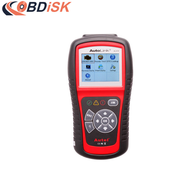 Original Autel AutoLink AL519 OBD-II And CAN Scanner Tool Multi-languages Vehicle Code Reader 100% original autel autolink al519 code reader obdii eobd can scan tool updated online autolink al519 scanner free shipping