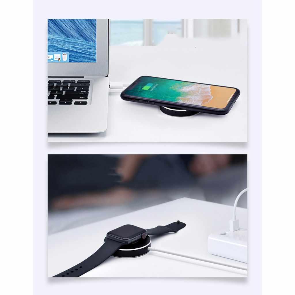 3 en 1 chargeur sans fil charge rapide AirPower pour iWatch pour iPhone pour Airpods alliage d'aluminium DC5V/2A DC9V/1.67A D52mm H12mm