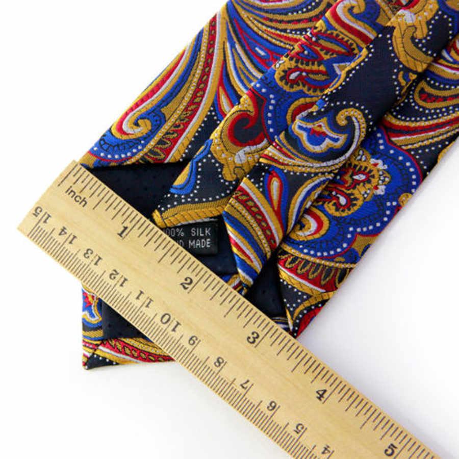 KT оптовая продажа (лот 5 шт.) 8 см мужской классический галстук винтажный клетчатый Пейсли 2016 Новый OEM Женихи Галстуки Свадебный день рождения галстук подарок